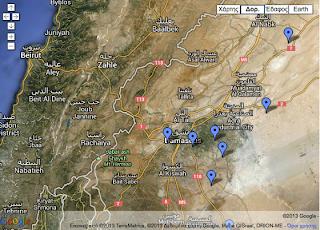 Στην συρία οι ηπα – χάρτης των στόχων